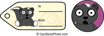 funny little skunk cartoon gift card - sweet little skunk...