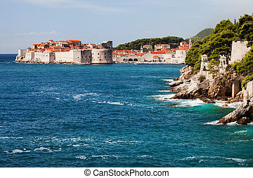 Dubrovnik on the Adriatic Sea - Dubrovnik Old City on the...