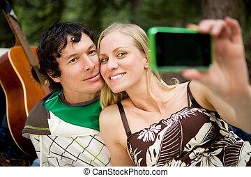 Happy Couple Self Portrait