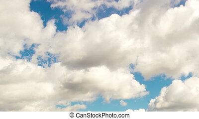 4k Time lapse daytime sky with fluffy clouds - Daytime sky...