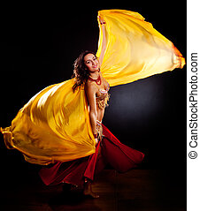 Belly dancer - A portrait of a beautiful belly dancer