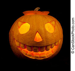 Halloween pumpkin isolated on a black background