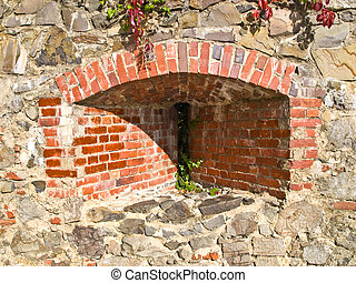 Loophole Uzhgorod castle - Loop-hole in the wall of the...