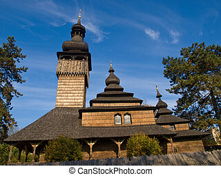 Ancient Church of Transcarpathia - Wooden church....