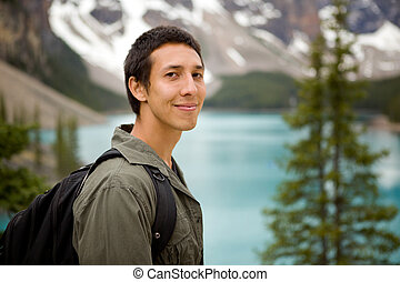 Happy Hiker Portrait