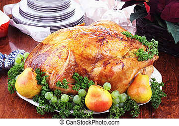 Christmas Turkey Dinner - Christmas turkey dinner with fresh...