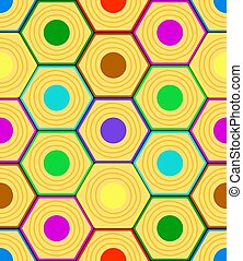 Abstract hexagon pattern - Seamless pattern of the abstract...
