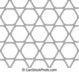 Abstract hexagonal rope pattern