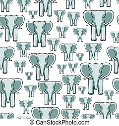 Elephant face seamless pattern - Seamless pattern of the...