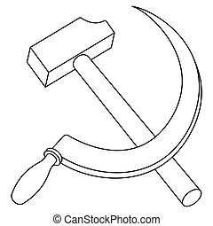 Hammer and sickle contour