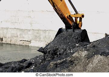 Reclamation of rivers through excavator