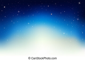 Night Sky With Stars - Dark Blue Sky With Stars, Vector...