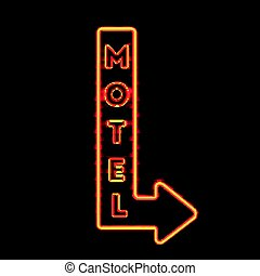 Luminous Motel Marker Composition - Neon sign set with...