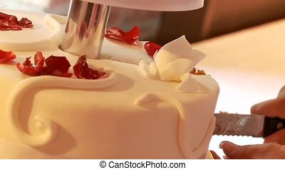 Cutting Wedding Cake - Wedding Flan