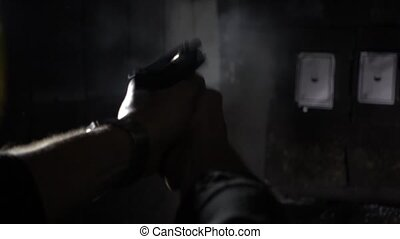 shooting shot in super slow motion - shooting bullets with...