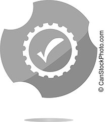 informatic protection shield icon, web button isolated on...