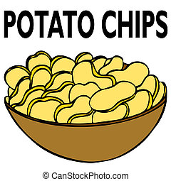 Potato Chips - An image of a bowl of potato chips.