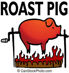 Roasted Pig - An image of a roasted pig.