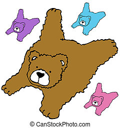 Bearskin Rug - An image of a bearskin rug.