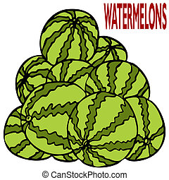 Watermelon Stack - An image of a stack of watermelons.