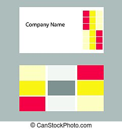 business card vector - front and back