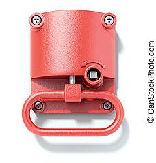 Emergency hand brake - 3D illustration