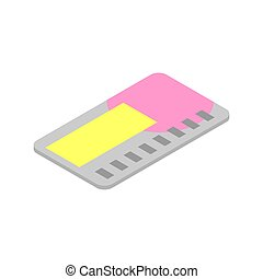 Credit plastic card. Financial card isolated on white...