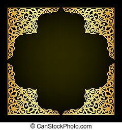 Abstract oriental ornament decorate vector - Abstract...