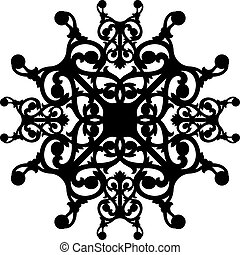 Oriental ornament decorate vector and illustration