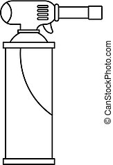 Gas cylinder icon outline - Gas cylinder icon in outline...