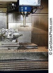 CNC metal machining by vertical mill