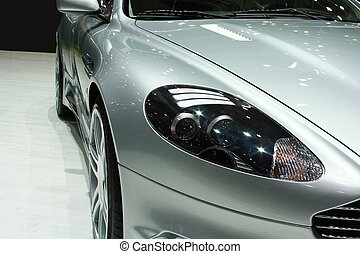 Car Lights - Front headlights of a luxurious sports car