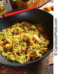 Nasi goreng rice - Traditional indonesian meal nasi goreng...