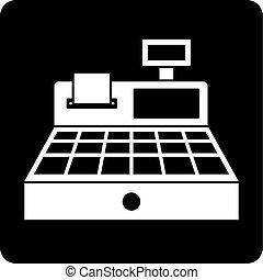 Sale cash register icon simple