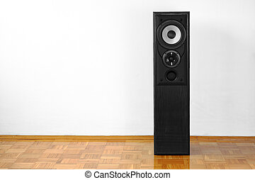 Floor loudspeaker - Single floor-standing loudspeaker on...