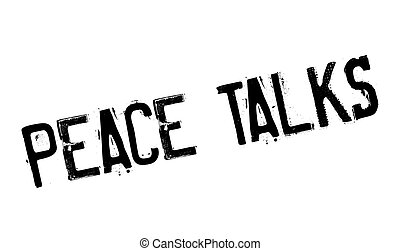 Peace Talks rubber stamp. Grunge design with dust scratches....