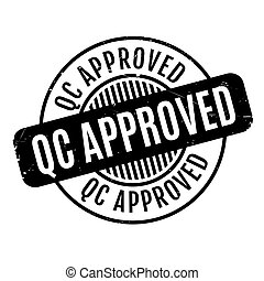 Qc Approved rubber stamp. Grunge design with dust scratches....