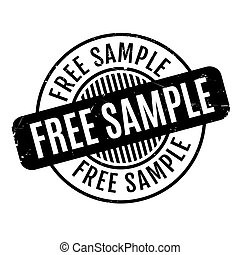 Free Sample rubber stamp. Grunge design with dust scratches....