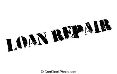 Loan Repair rubber stamp. Grunge design with dust scratches....