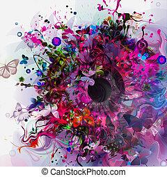 Magic colorful eye