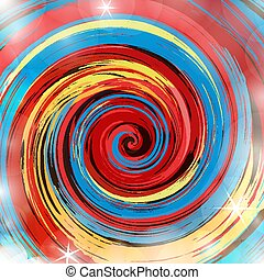 Abstract colorful paint swirl vector background.