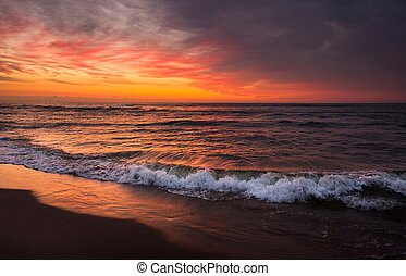 sunset - Sunset at the ocean