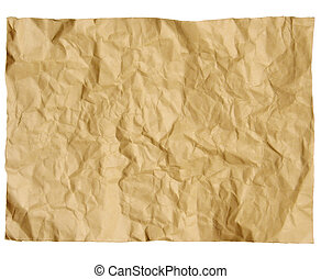 old paper crumpled - photograph of a old paper crumpled...