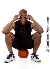 Young African American basketball player - Young attractive...