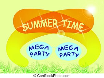 Summer party vector flyer