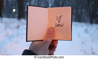 Let it snow! Christmas calligraphy. Handwritten. Hand...