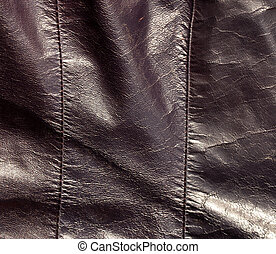 Abstract color leather texture with stiches. Background and...