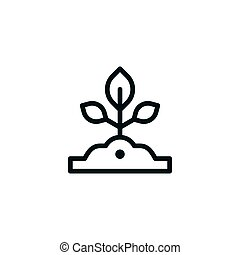 Sapling line icon isolated on white. Vector illustration