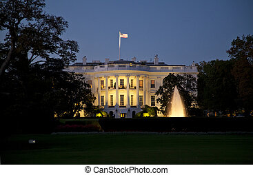 The White House in the night - The White House in Washington...