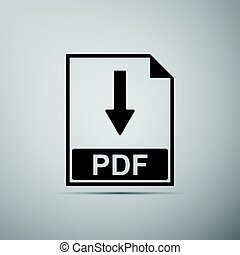 PDF flat icon on grey background. Adobe illustrator